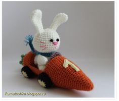 Dani's Wollige Welt: Der Hase im Karottenauto, Häkelanleitung
