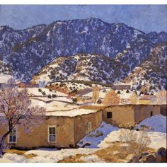 The museum has recently received the generous gift of some of Van Soelen's papers from his son, to add to our existing archive of the artist. A wonderful resource for studying the early 20th century art scene in Santa Fe.  A Santa Fe Hillside circa 1924 Theodore Van Soelen American, 1890 - 1964 oil on canvas Gift of Henry Dendahl in memory of his mother Johanna S. Dendahl, 1946  via New Mexico Museum of Art FB