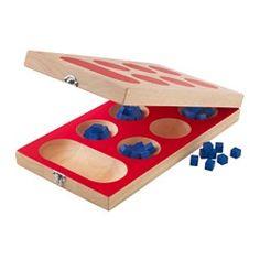 IKEA - LATTJO, Kalaha-Spiel, Gesellschaftsspiele unterstützen Kinder in der Entwicklung logischen Denkens und lehren sie zu gewinnen, zu verlieren und zu warten, bis sie an der Reihe sind.