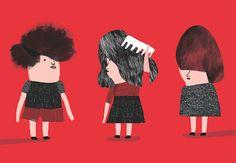 Illustrator, living in Madrid. I Dont Need Friends, Illustrators, Cool Hairstyles, Folk, Illustration Art, Typography, Hair Styles, People, Anime