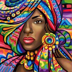 DIY Diamond Painting woman fantasy Home Decor Full Drill Nation Picture Of Rhinestone Mosaic Dia. DIY Diamond Painting woman fantasy Home Decor Full Drill Nation Picture Of Rhinestone Mosaic Diamond Embroidery Gift Black Girl Art, Black Women Art, Black Art, Art Girl, African American Art, African Women, African Union, African Beauty, Pintura Graffiti