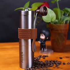 ALOCS Stainless Steel Manual Coffee Grinder Hand Crank Hand #Coffee Mill Spice Grinder #Herb #Grinder Camping