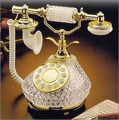 French Style Crystal Telephone