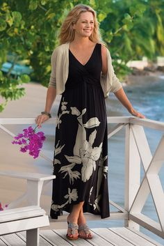 Long and lovely, our Iris Dress is a true summer stunner! Perfect for summer days and nights.