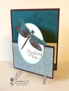 Dragonfly Dreams Dutch Door fun-fold card with video - Flowerbug's Inkspot