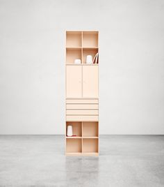 Tall storage in the colour Peach. #montana #furniture #storage #peach #pastels #cabinets #drawers #kitchen #livingroom #danish #design