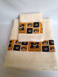 Hey, I found this really awesome Etsy listing at https://www.etsy.com/listing/229241803/one-2-piece-mizzou-towel-set-towel-set