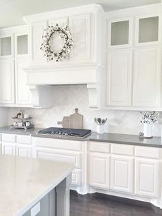 Best White Paint Color For Kitchen Cabinets Best Kitchen Wall Colors With White Cabinets Kitchen And Decor, Cool Best White Paint Color For Kitchen Cabinets Perfect Ideas, 10 Best White Kitchen Cabinet Paint Colors Ideas For Kitchen, Kitchen Cabinets Decor, Cabinet Decor, Kitchen Cabinet Design, Painting Kitchen Cabinets, Kitchen Redo, Home Decor Kitchen, New Kitchen, Home Kitchens, Kitchen Ideas