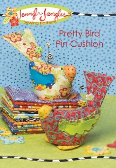 This pretty bird pin cushion will brighten your sewing room any day of the year. What a great gift for teachers, kids, or anyone who needs some cheer! Finished