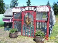 Rusty Roo Inn...how cute is this ~~~ I'd love this for my back yard (chicken coop)  sweet