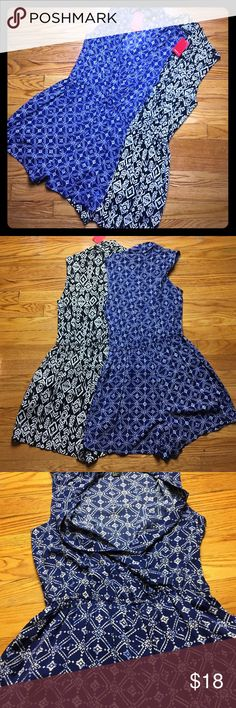 """Forever21 Printed Romper/Jumpsuits *BNWT* Forever21 Printed Romper/Jumpsuits *BNWT* Color: Blue/white, Black/white Size: small Bust: 17"""" Waist: 12"""" elastic Hips: 20"""" Button clasp at bust, elastic waist, pockets at the hip. Forever 21 Other"""
