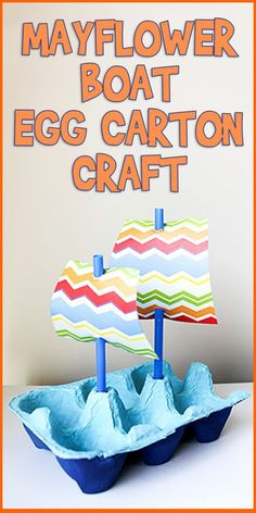 Mayflower Boat Egg Carton Craft is part of Little Kids Crafts Easy - The best way to learn history is to get hands on! This easy egg carton Mayflower boat craft is simple enough for little kids, and fits mini dolls too Craft Activities, Preschool Crafts, Kids Crafts, Recycled Crafts For Kids, Recycling Projects For Kids, Recycled Art Projects, Craft Projects, Craft Ideas, Art And Craft Videos