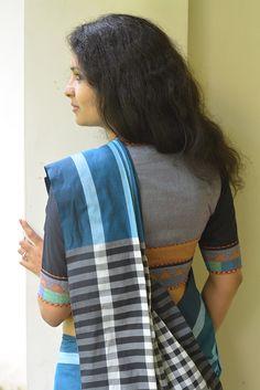 Neela Vara Kaithari Handloom Saree from Seamstress.co.in