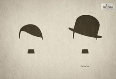 This ad for Hut Weber shows how a hat can make all the difference in our perception of an individual.