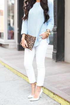 light blue + white