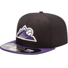 c6445d0dce7 Colorado Rockies New Era Youth Diamond Era BP 59FIFTY Performance Fitted Hat  - Black Purple