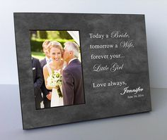 Pas Wedding Gift Of The Bride Father Mother Personalized Picture Frame Mob4