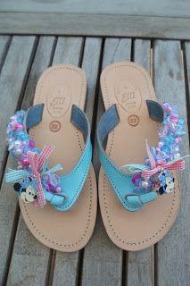 1de80d3187f3c8 turquoise handmade leather sandal with minnie mouse by  ellishoes.blogspot.com