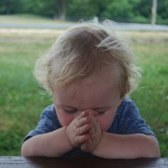 This reminds me of Elaina..who before every meal folds her hands to pray..Such a smart girl