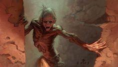Favorite Zombie Art: A Gallery Zombie Drawings, Dead On Arrival, Zombies, Zombie Art, Necromancer, Post Apocalypse, Werewolf, Weird, Horror