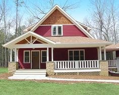 Plan W16702RH: Country, Narrow Lot, Green, Photo Gallery, Cottage, Vacation House Plans & Home Designs