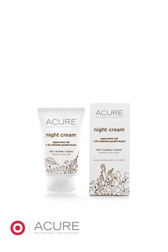 Nature's nocturnal miracle! This @acureorganics Night Cream supports the skin's natural repair & regeneration process, boosts firmness and adds moisture from hydrating organic Argan Oil and Evening Primrose Oil.