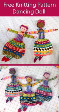 Knitted Doll Patterns, Knitted Dolls, Crochet Dolls, Knitting Patterns Free, Free Knitting, Baby Knitting, Knitting Toys, Knitting For Kids, Ideas