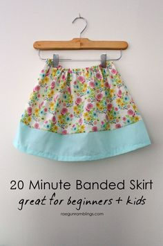It is so much fun to teach others how to sew but somethings it's hard deciding on an easy project. This simple banded skirt tutorial because it's just straight lines but has enough of them to get your little student some good practice. This is my go toproject I use to teach kiddos (and adults …