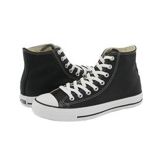 Converse Chuck Taylor ® All Star® Leather Hi ($65) found on Polyvore