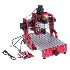 Red 1419 3 Axis Mini DIY CNC Router Standard Spindle Motor Wood Carving Engraving Machine Milling Engraver Woodworking Diy Cnc Router, Milling, Goods And Services, Wood Carving, Woodworking, Industrial, Mini, Red, Products