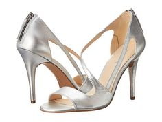 Nine West Simplistic Silver Leather - 6pm.com