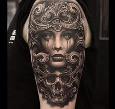 surrealistic female tattoo by anthony michaels ink master spiketv awesome ink pinterest. Black Bedroom Furniture Sets. Home Design Ideas