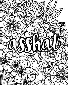 Potty Mouth: A Coloring Book for Adults Super Coloring Pages, Quote Coloring Pages, Printable Adult Coloring Pages, Disney Coloring Pages, Mandala Coloring Pages, Colouring Pages, Coloring Books, Swear Word Coloring Book, Doodle