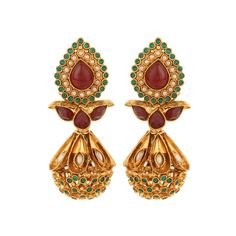 Pure collection exclusive golden multicolour pearl earrings for women dilan jewels