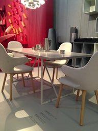 "R.I.G Table in Grey Linoleum performed at  Triennale di Milano 2013 ""Danish Chromatism"" together with other Top Danish Brands.  #danishdesign #allgoodthings-danish #danishfurniture #danish #maustudiocph #woodtable #dinesen #triennale #triennaledimilano2013 #chromatism #interiordesign #workingplaces #desk #board"