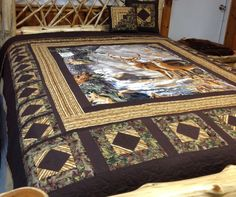 My Deer  queen quilt. by QuiltingBeis on Etsy, $550.00
