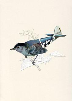 Aerofauna V  Print by ValeroDoval on Etsy - so creative and cool