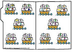 Preschool Printables : File Folder: Ship Shape
