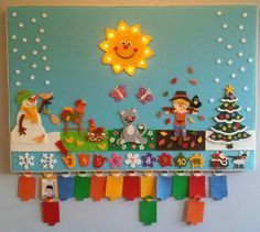 Geburtstagskalender Filz Kindergarten Birthday Calender
