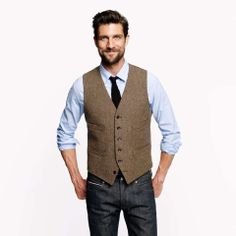 Love the J.Crew Ludlow vest in harvest herringbone English wool on Wantering | $90 | sale price | Boxing Week for Him | mens brown vest | menswear | mens style | mens fashion | wantering http://www.wantering.com/mens-clothing-item/ludlow-vest-in-harvest-herringbone-english-wool/47vUO0/