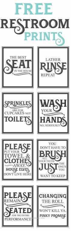 Free Vintage inspired bathroom printables-funny quotes to hang up in the restroo…  http://www.nicehomedecor.site/2017/08/07/free-vintage-inspired-bathroom-printables-funny-quotes-to-hang-up-in-the-restroo-3/