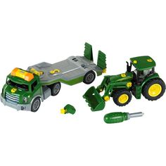 Theo Klein - John Deere Take a Part Transporter & Tractor Set - Green