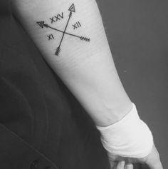 numeros romanos para tatuajes con flechas