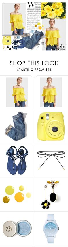 """""""Yellow SheIn Top"""" by cokoladni-mesec on Polyvore featuring Brock Collection, Fuji, Chanel, Elizabeth and James and Lacoste"""