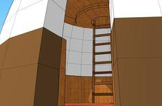 Plans, croquis, 3ds et projets - Superadobe France Small House Kits, Kit Homes, Plans, Backyard, Construction, Fire, Blue Prints, Sketch, Bonheur