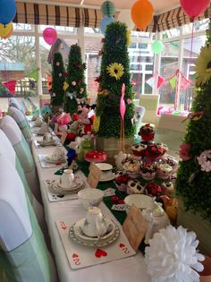 Ruby's 5th birthday party - Mad Hatters Tea Party