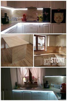 Blat pentru bucatarie din Marmura Breccia Sarda Kitchen Island, Home Decor, Travertine, Granite, Island Kitchen, Decoration Home, Room Decor, Interior Design, Home Interiors