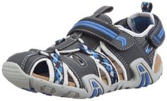 Geox Ckraze11 Sandal, Navy/Royal, 35 EU/3.5 M US Big Kid Geox. $70.57