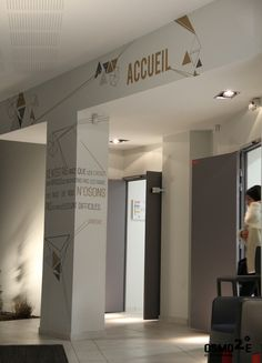 Design Mural Wall Design Entreprise Si Ge Social D Coration G Ante Signal Tique