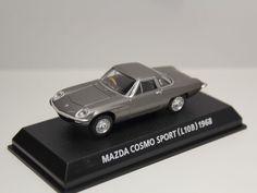KONAMI MAZDA COSMO SPORT L10B 1968 GRAY 1/64 JAPAN #Konami #Mazda